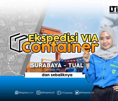 Ekspedisi Via Container Surabaya Tual 20 feet dan 40 feet