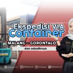 container malang gorontalo